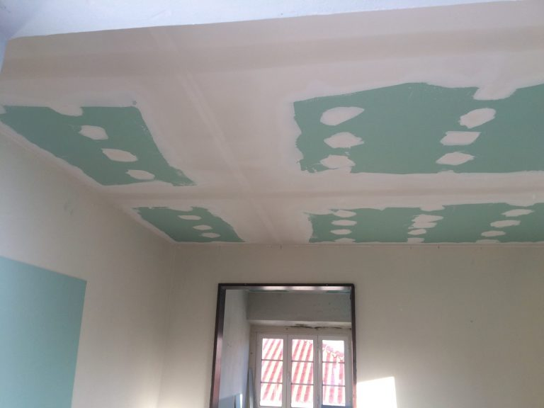 fitting new ceiling