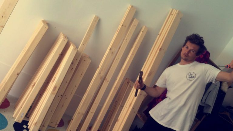 furniture building bunkbed
