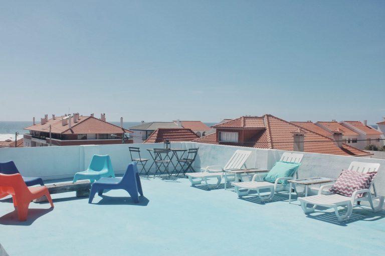 roof terrace sun loungers