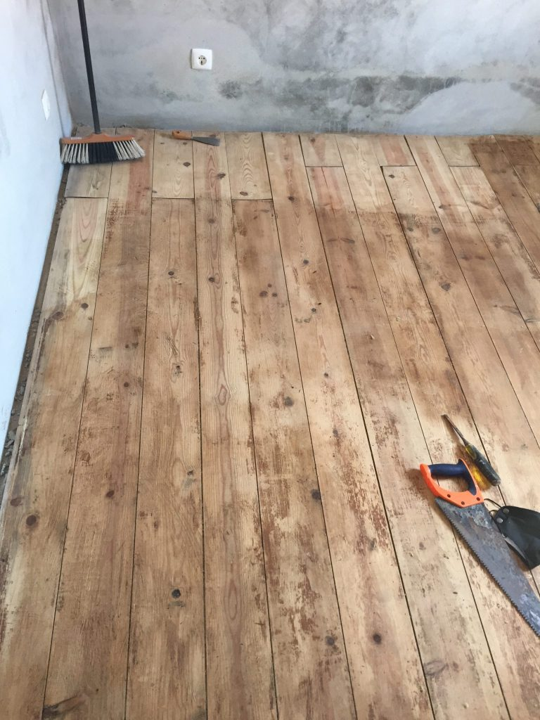 fistral renovation stripped floor